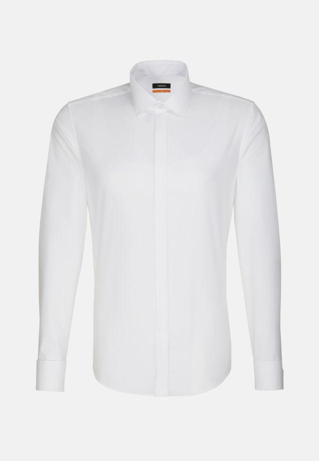Non-iron Poplin Gala Shirt in Slim with Kent-Collar in weiß |  Seidensticker Onlineshop