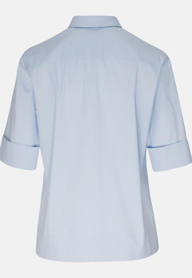 Kurzarm Popeline Hemdbluse aus 81% Baumwolle 16% Polyamid/Nylon 3% Elastan in sky |  Seidensticker Onlineshop