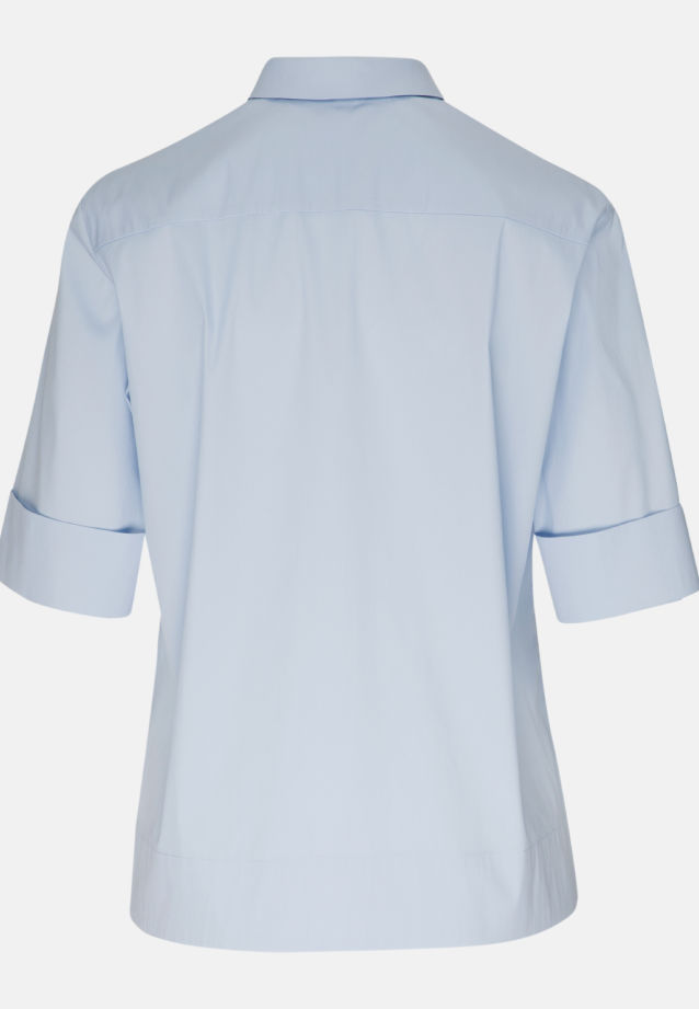 Short arm Poplin Shirt Blouse made of 81% Cotton 16% Polyamid/Nylon 3% Elastane in Light blue |  Seidensticker Onlineshop