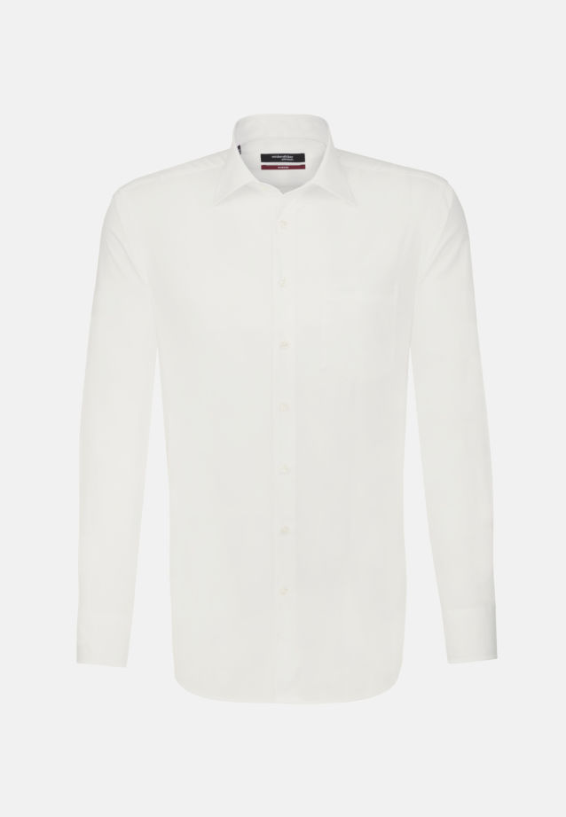 Non-iron Poplin Business Shirt in Regular with Kent-Collar in Ecru |  Seidensticker Onlineshop