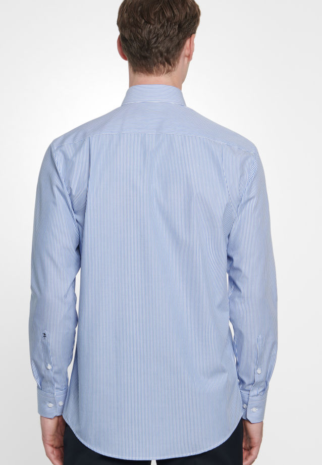 Bügelfreies Popeline Business Hemd in Modern mit Button-Down-Kragen in blau |  Seidensticker Onlineshop