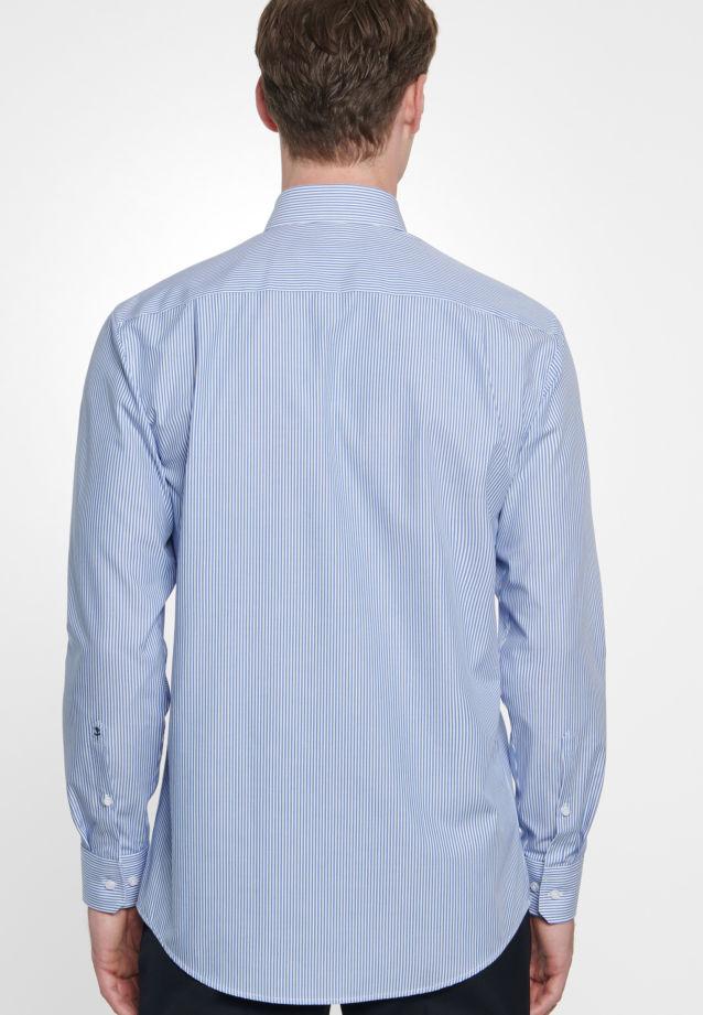 Bügelfreies Popeline Business Hemd in Modern mit Button-Down-Kragen in Mittelblau |  Seidensticker Onlineshop