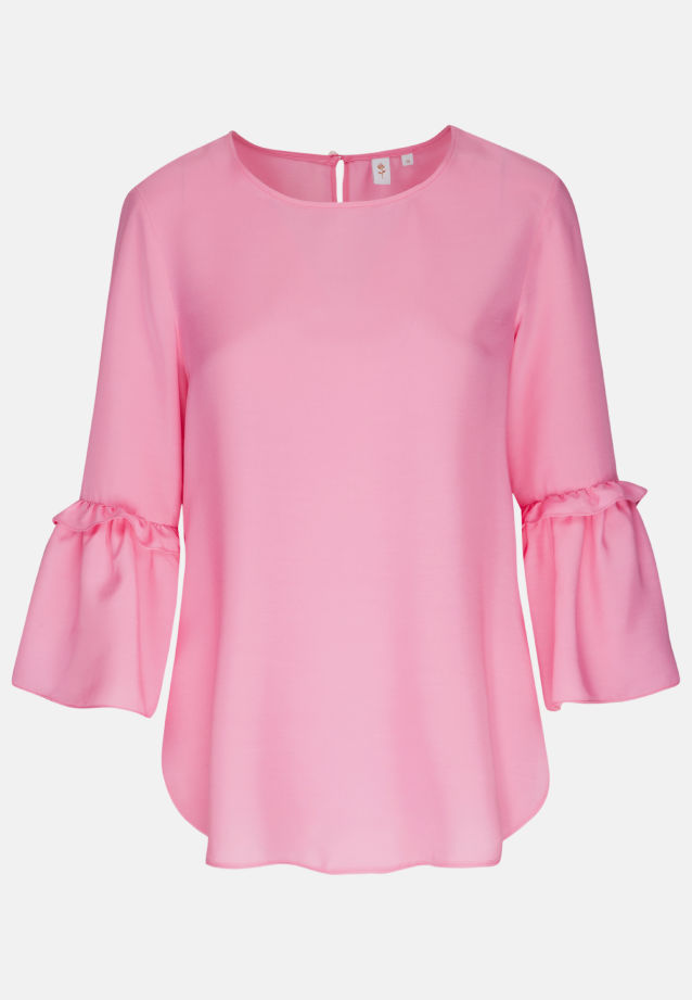 3/4 arm Voile Shirt Blouse aus 100% Viskose in Pink |  Seidensticker Onlineshop