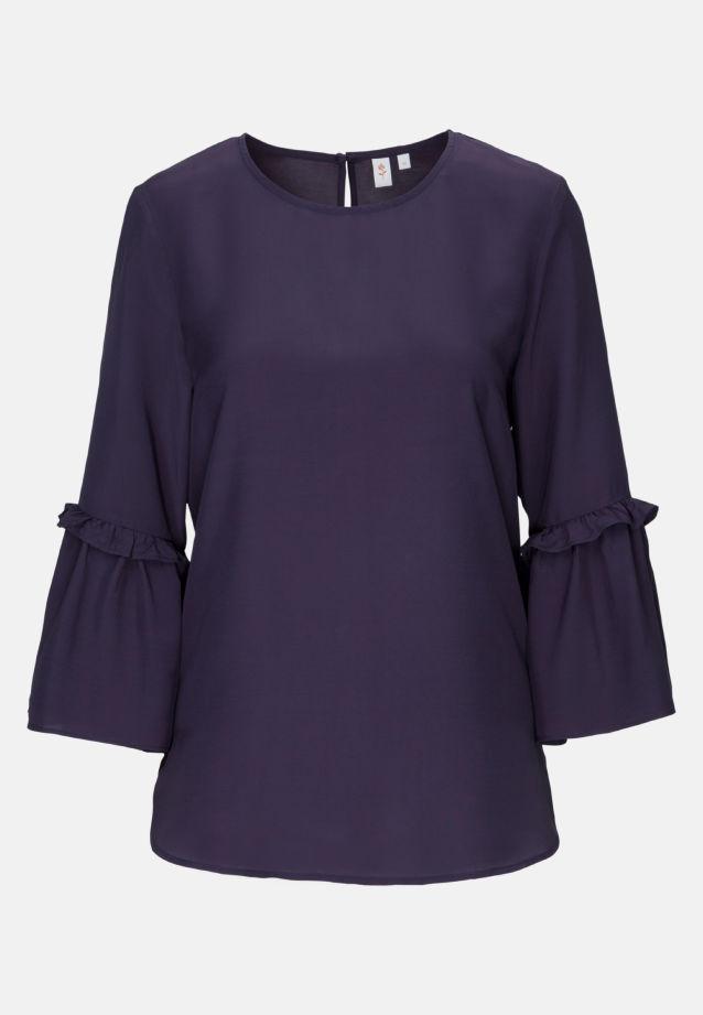 3/4 arm Voile Shirt Blouse aus 100% Viskose in navy |  Seidensticker Onlineshop