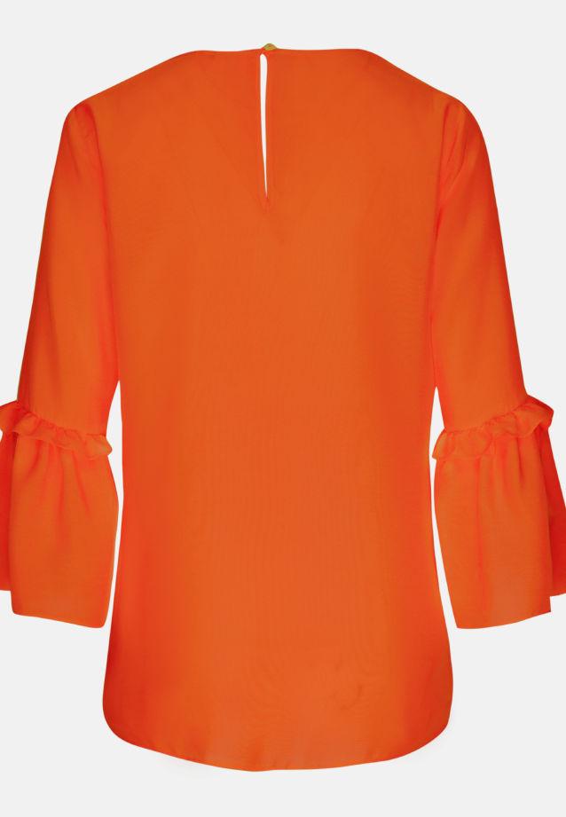 3/4 arm Voile Shirt Blouse aus 100% Viskose in orange |  Seidensticker Onlineshop