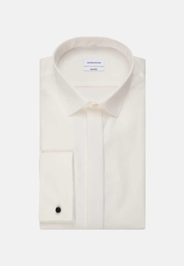 Non-iron Poplin Gala Shirt in Shaped with Kent-Collar in Ecru |  Seidensticker Onlineshop