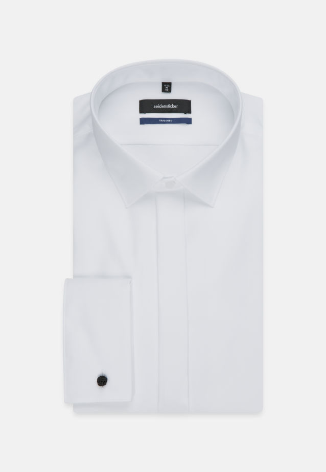 Non-iron Poplin Gala Shirt in Tailored with Kent-Collar in weiß |  Seidensticker Onlineshop