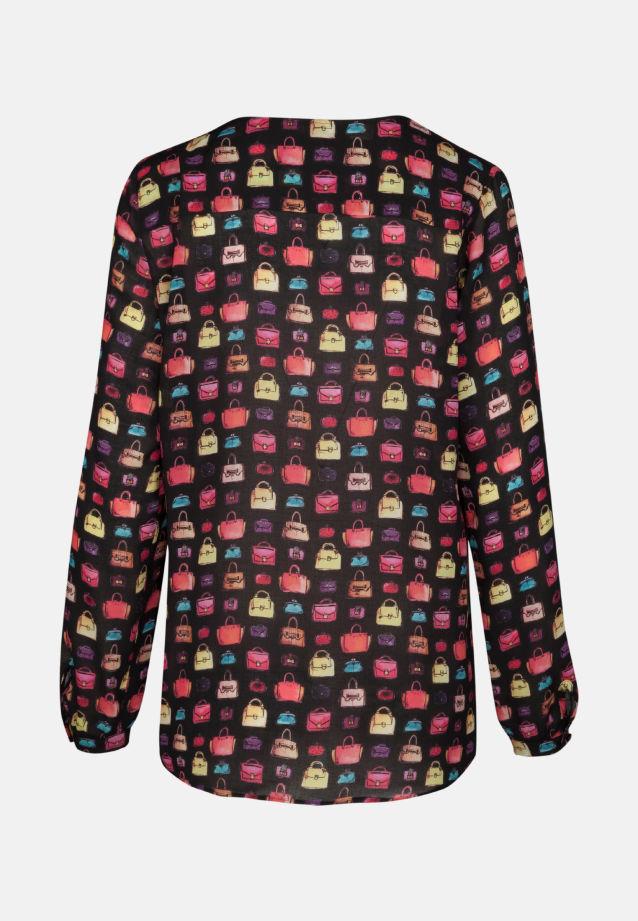 Voile Shirtbluse aus 100% Viskose in schwarz-bunt |  Seidensticker Onlineshop
