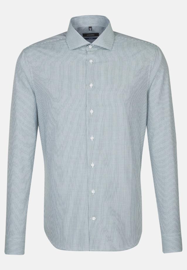Bügelleichtes Popeline Business Hemd in Tailored mit Kentkragen in Grün |  Seidensticker Onlineshop