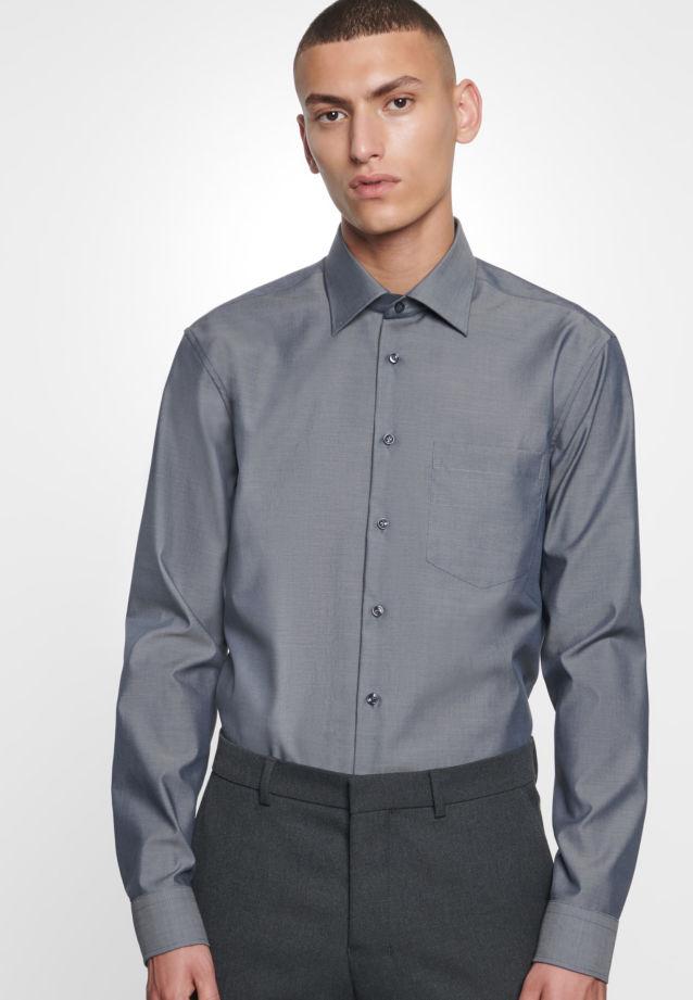 Bügelfreies Fil a fil Business Hemd in Modern mit Kentkragen in grau |  Seidensticker Onlineshop