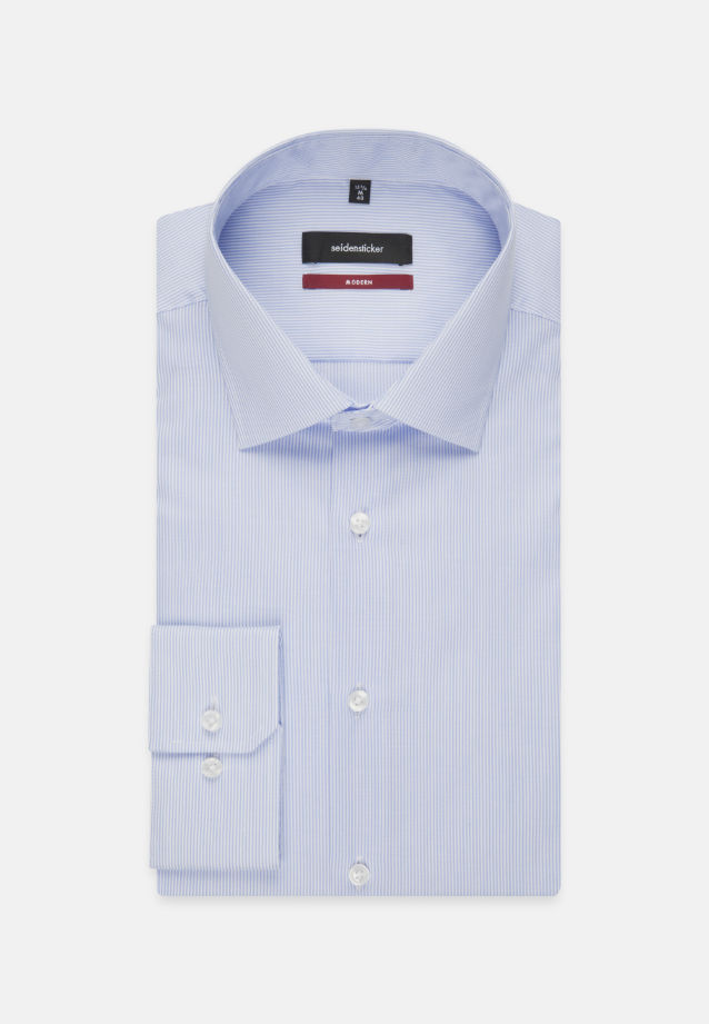 Non-iron Twill Business Shirt in Modern with Kent-Collar in Light blue |  Seidensticker Onlineshop