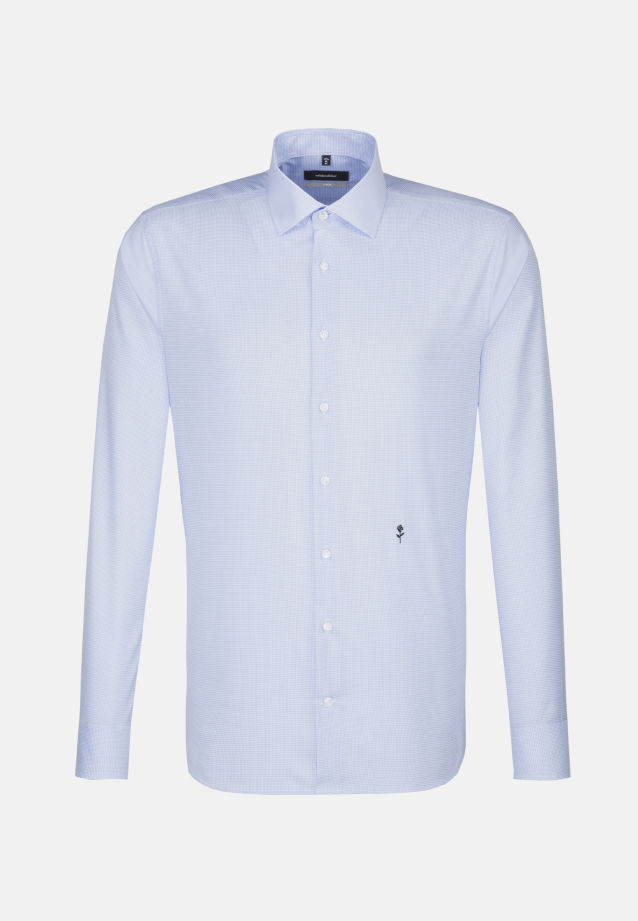 Non-iron Twill Business Shirt in X-Slim with Kent-Collar in blau |  Seidensticker Onlineshop