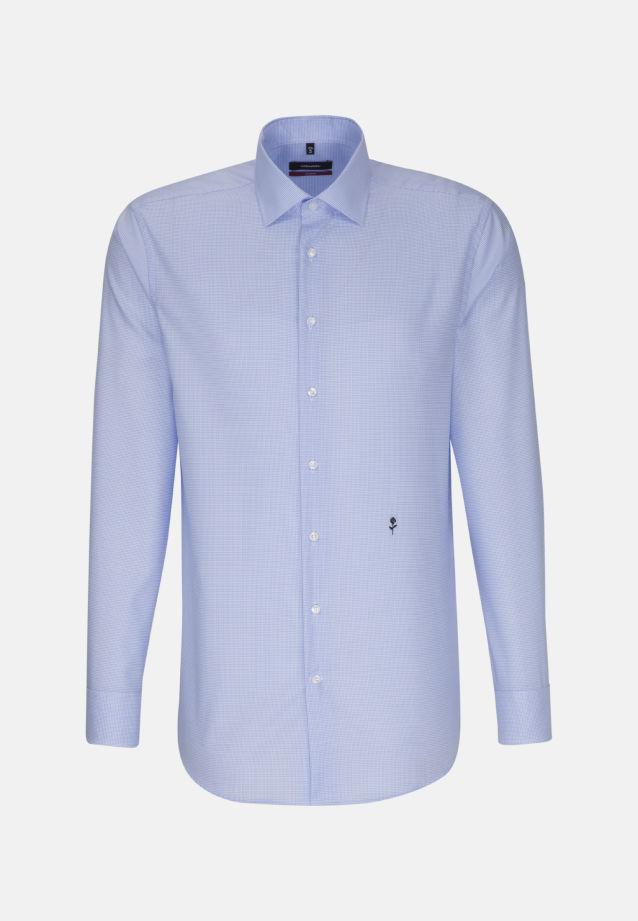 Bügelfreies Twill Business Hemd in Modern mit Kentkragen in blau |  Seidensticker Onlineshop