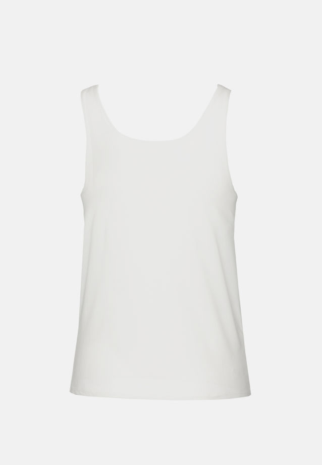 Sleeveless Jersey Top made of 96% Cotton 4% Elastane in weiß |  Seidensticker Onlineshop