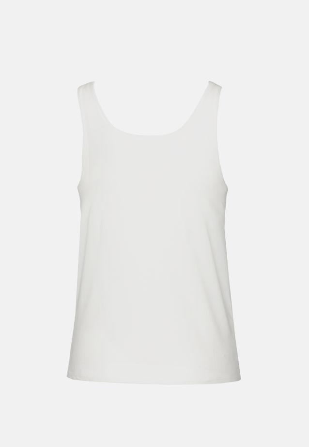 Sleeveless Jersey Top made of 96% Cotton 4% Elastane in White |  Seidensticker Onlineshop