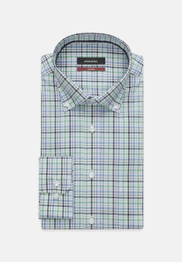 Non-iron Poplin Business Shirt in Regular with Button-Down-Collar in Green |  Seidensticker Onlineshop