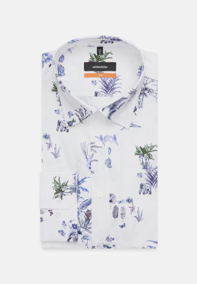 Bügelleichtes Popeline Business Hemd in Slim mit Covered-Button-Down-Kragen in Hellblau    Seidensticker Onlineshop