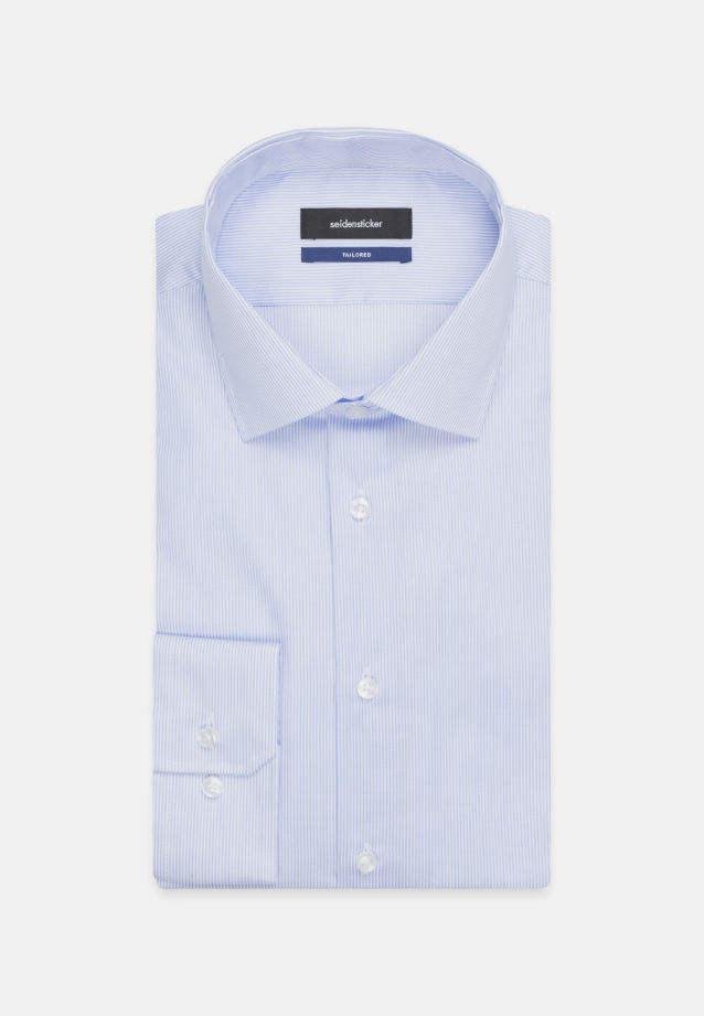 Non-iron Twill Business Shirt in Tailored with Kent-Collar in Light blue |  Seidensticker Onlineshop