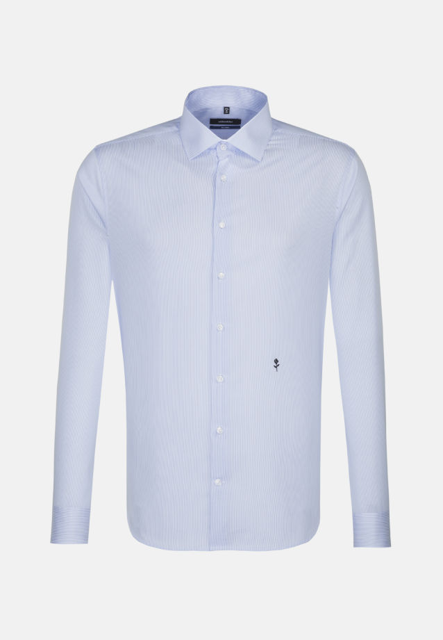 Bügelfreies Twill Business Hemd in Tailored mit Kentkragen in blau |  Seidensticker Onlineshop