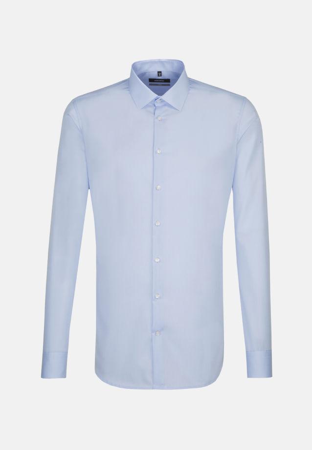 Bügelfreies Popeline Business Hemd in X-Slim mit Kentkragen und extra langem Arm in blau |  Seidensticker Onlineshop