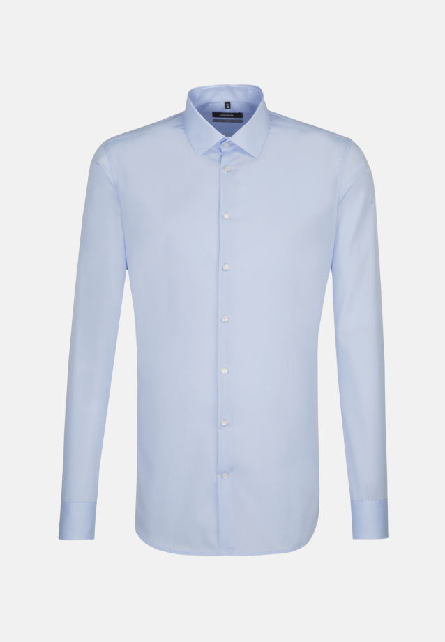 Non-iron Poplin Business Shirt in X-Slim with Kent-Collar and extra long arm in Light blue |  Seidensticker Onlineshop