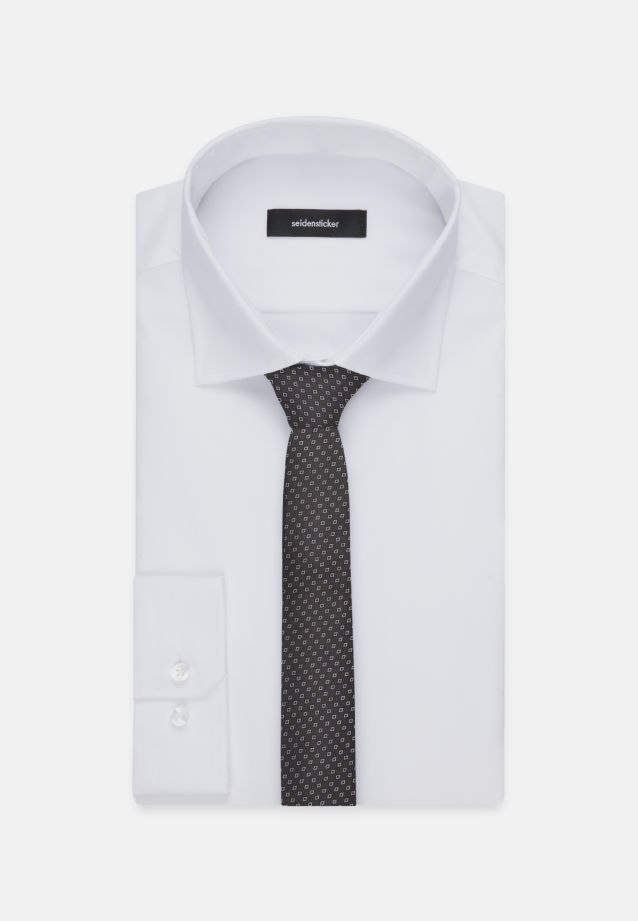Tie made of 100% Silk 5 cm wide in schwarz |  Seidensticker Onlineshop