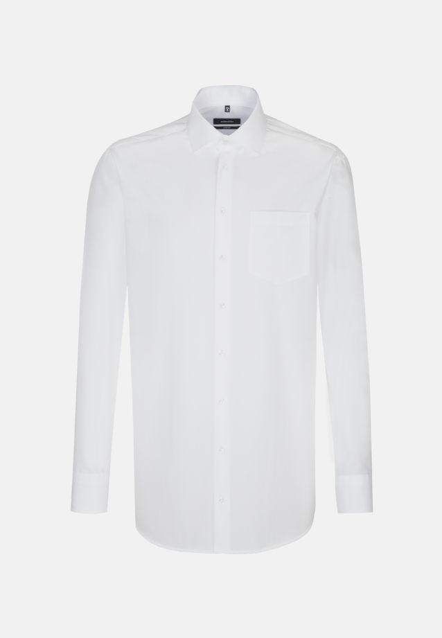 Bügelfreies Popeline Business Hemd in Comfort mit Kentkragen und extra langem Arm in weiß |  Seidensticker Onlineshop