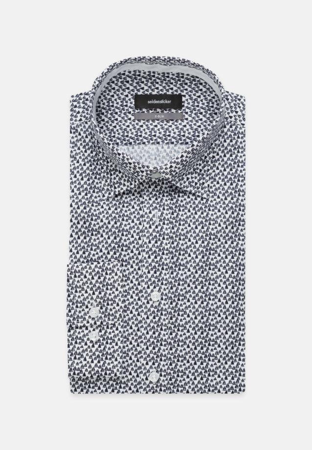 Bügelleichtes Popeline Business Hemd in X-Slim mit Covered-Button-Down-Kragen in Mittelblau    Seidensticker Onlineshop
