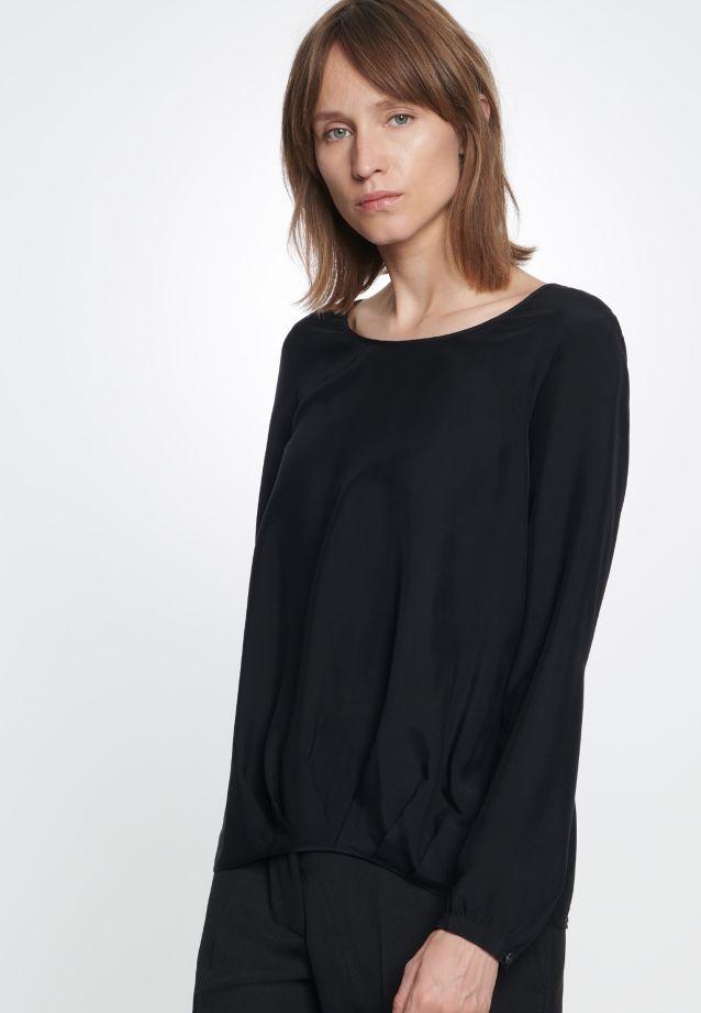 Voile Shirt Blouse made of 100% Viskose in schwarz |  Seidensticker Onlineshop
