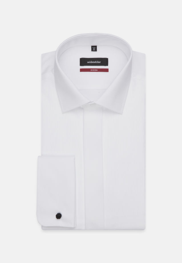 Non-iron Poplin Gala Shirt in Modern with Kent-Collar in weiß |  Seidensticker Onlineshop