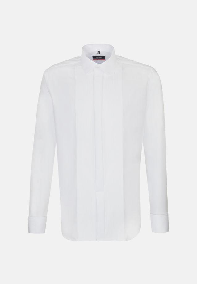 Bügelfreies Popeline Smokinghemd in Modern mit Kentkragen in weiß |  Seidensticker Onlineshop