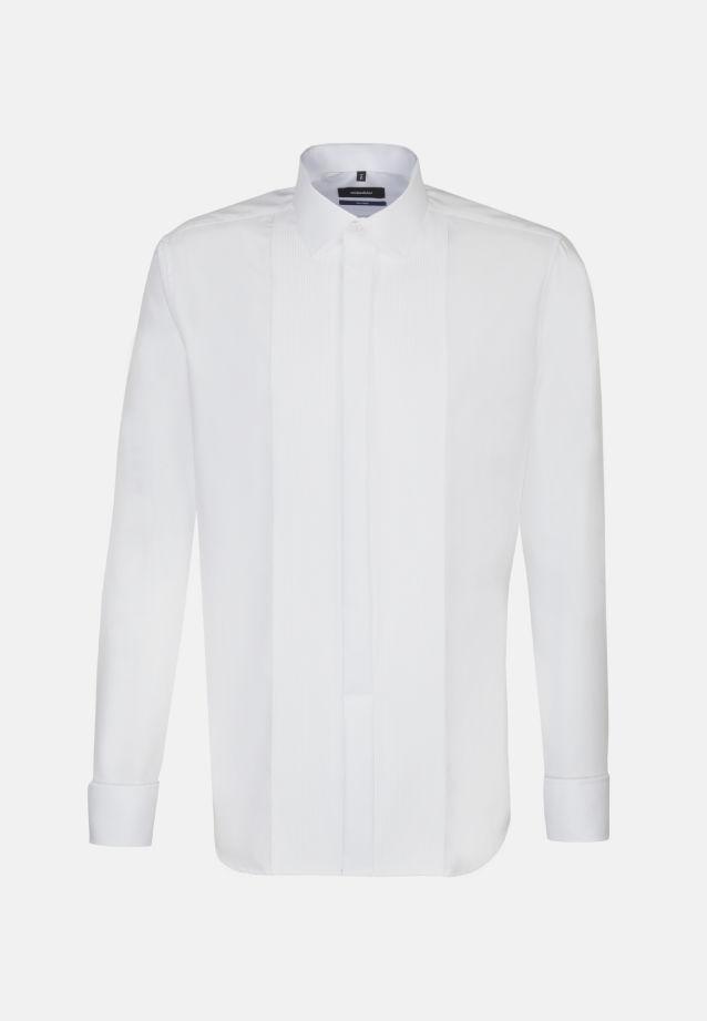 Bügelfreies Popeline Smokinghemd in Tailored mit Kentkragen in weiß |  Seidensticker Onlineshop