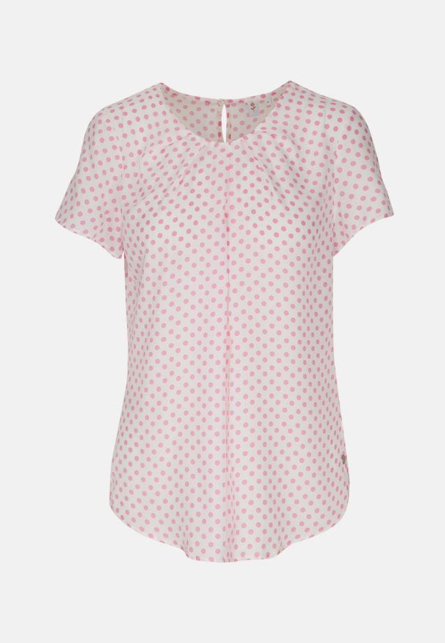 Kurzarm Voile Shirtbluse aus 100% Viskose in weiß-pink    Seidensticker Onlineshop