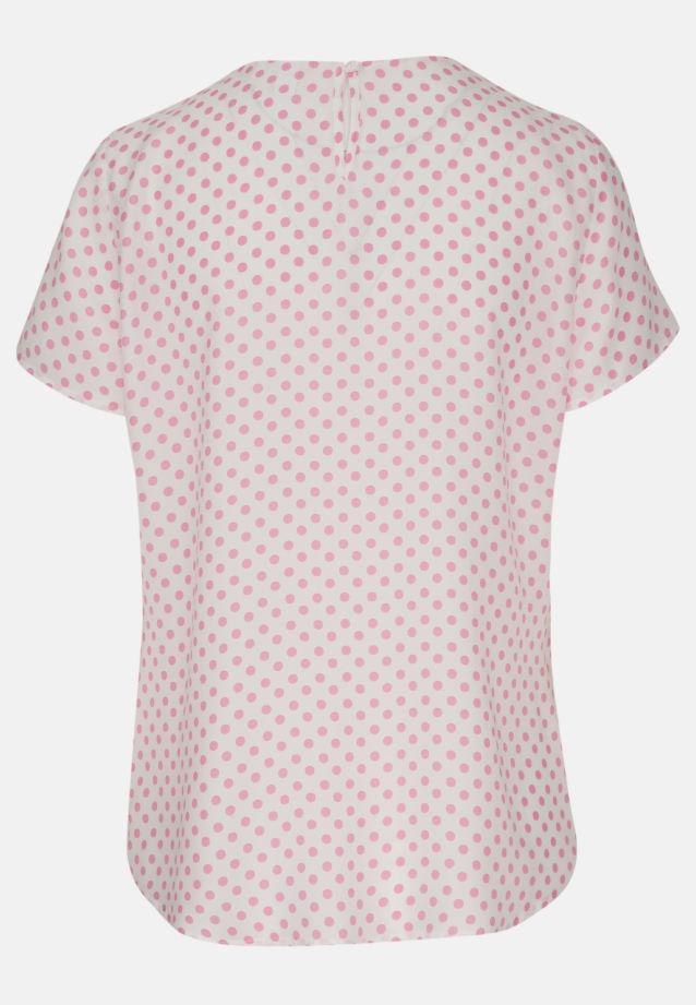 Kurzarm Voile Shirtbluse aus 100% Viskose in weiß-pink |  Seidensticker Onlineshop