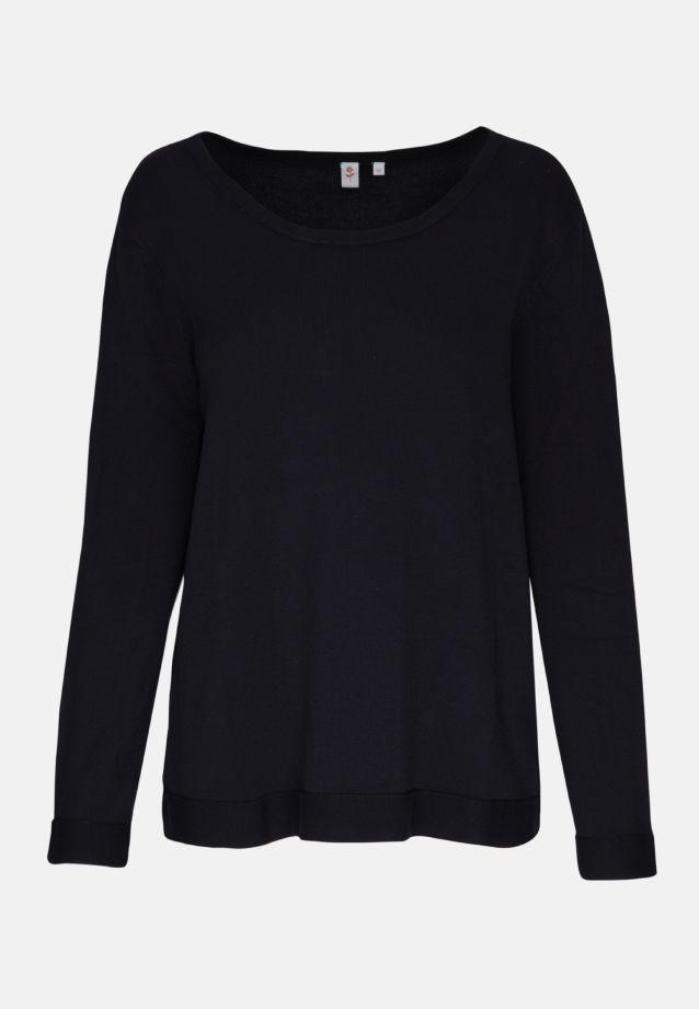 Rundhals Pullover aus 83% Viskose 17% Polyamid/Nylon in Dunkelblau |  Seidensticker Onlineshop