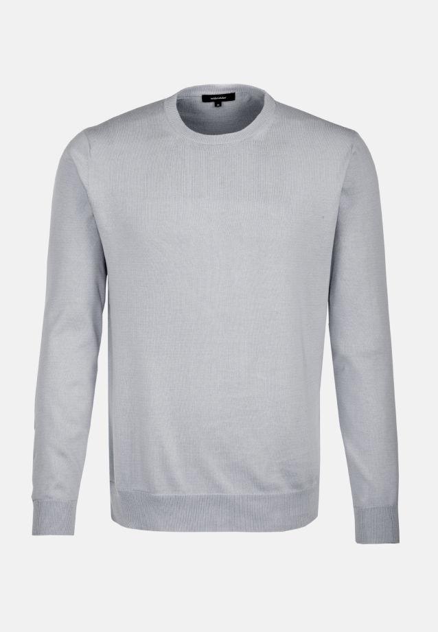 Crew Neck Pullover made of 100% Cotton in grau    Seidensticker Onlineshop