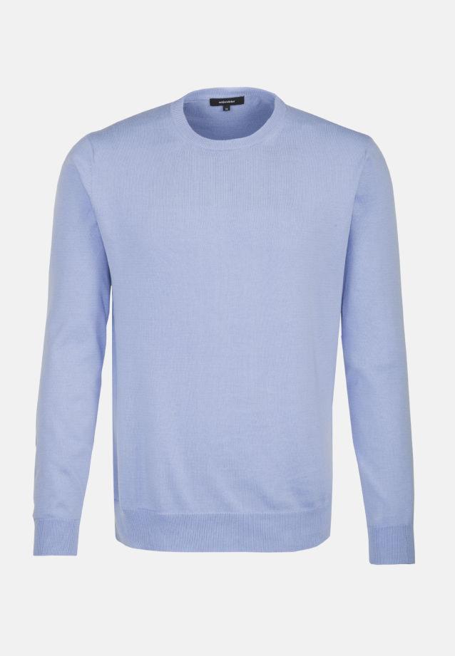 Crew Neck Pullover made of 100% Cotton in hellblau    Seidensticker Onlineshop