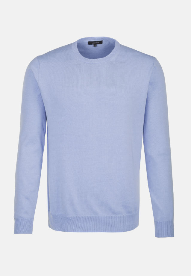 Crew Neck Pullover made of 100% Cotton in Light blue |  Seidensticker Onlineshop