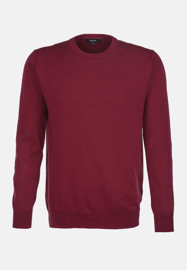 Crew Neck Pullover made of 100% Cotton in rot    Seidensticker Onlineshop