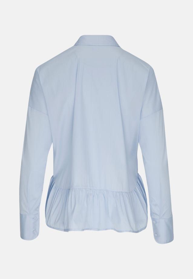 Popeline Hemdbluse aus 81% Baumwolle 16% Polyamid/Nylon 3% Elastan in Hellblau |  Seidensticker Onlineshop