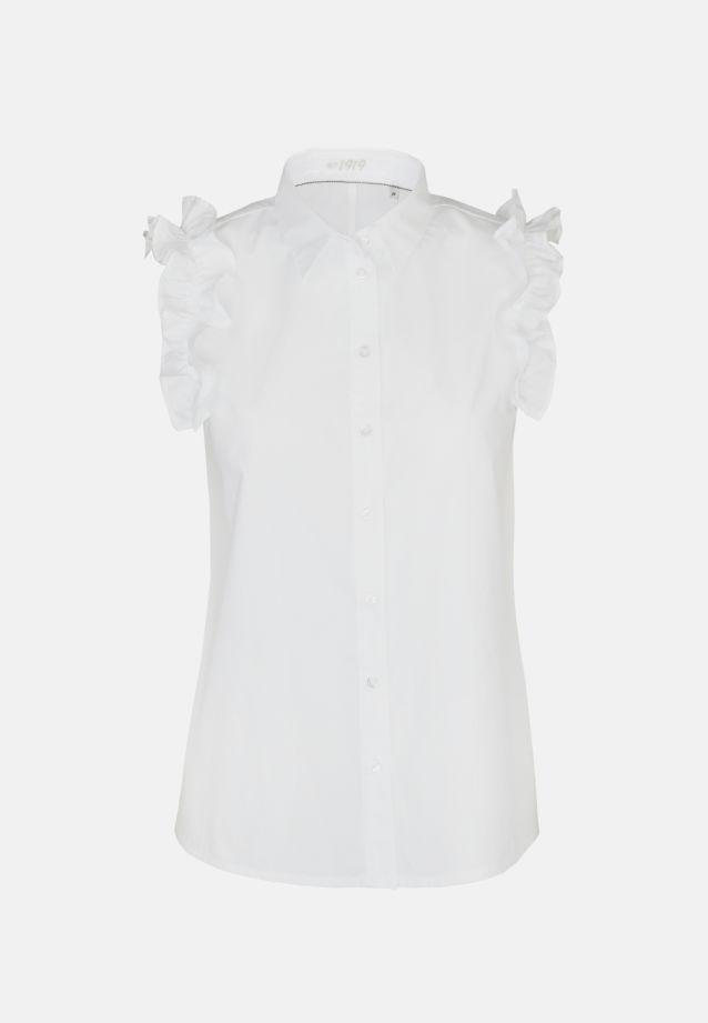 Sleeveless Poplin Shirt Blouse made of 100% Cotton in White |  Seidensticker Onlineshop