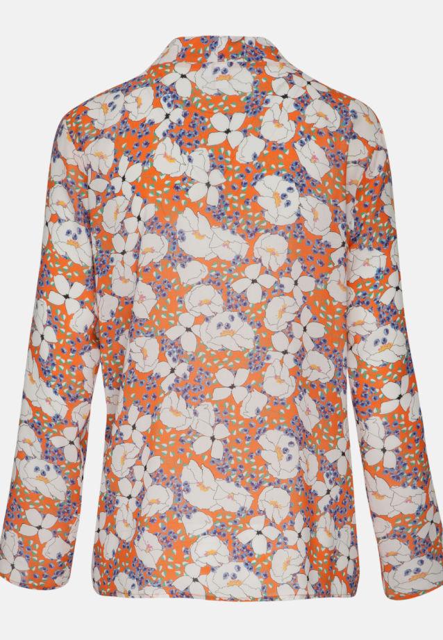 Voile Shirt Blouse made of 100% Viskose in orange-weiß |  Seidensticker Onlineshop