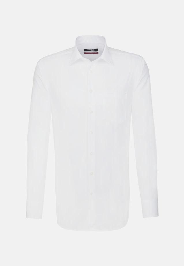 Bügelfreies Popeline Business Hemd in Modern mit Kentkragen und extra langem Arm in weiß |  Seidensticker Onlineshop