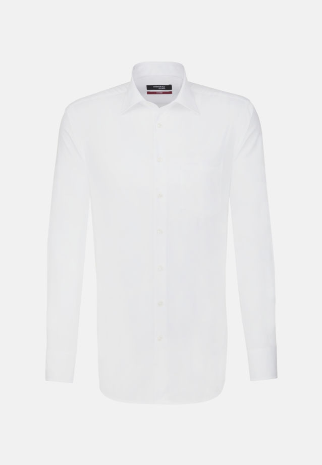 Non-iron Poplin Business Shirt in Modern with Kent-Collar and extra long arm in White |  Seidensticker Onlineshop