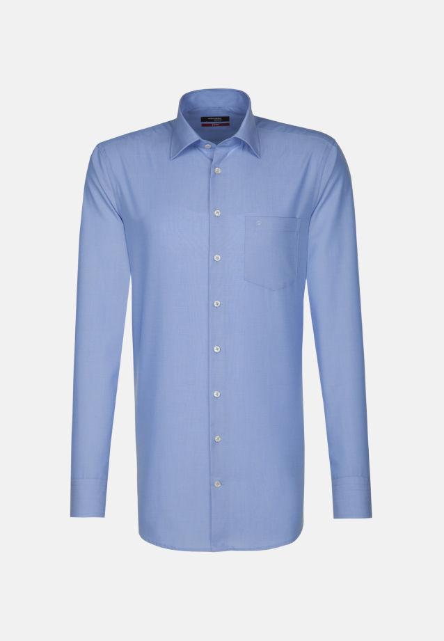 Bügelfreies Popeline Business Hemd in Modern mit Kentkragen und extra langem Arm in mittelblau |  Seidensticker Onlineshop