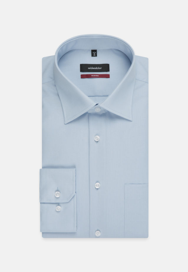 Non-iron Poplin Business Shirt in Modern with Kent-Collar and extra long arm in Rot |  Seidensticker Onlineshop