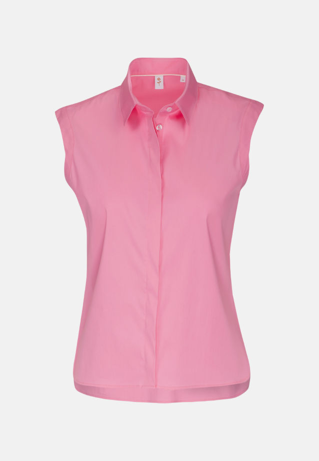 Ärmellose Popeline Hemdbluse aus 81% Baumwolle 16% Polyamid/Nylon 3% Elastan in Rosa/Pink    Seidensticker Onlineshop