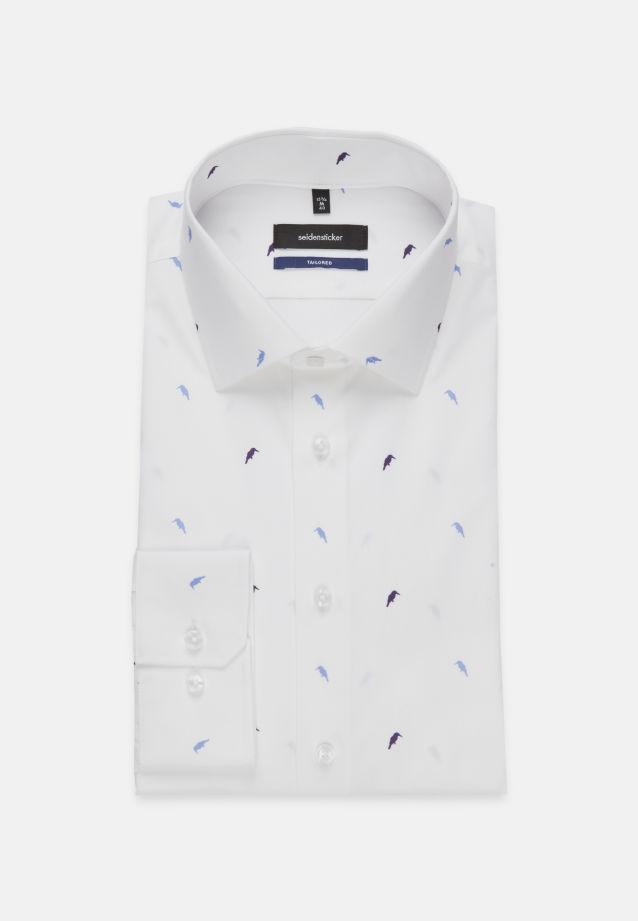 Bügelleichtes Popeline Business Hemd in Shaped mit Kentkragen in Lila    Seidensticker Onlineshop