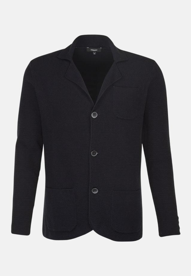 Collar Jacket made of 100% Cotton in marine    Seidensticker Onlineshop