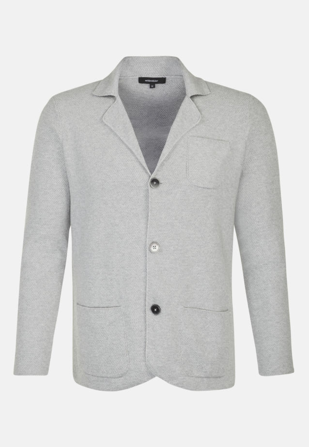 Collar Jacket made of 100% Cotton in Grey |  Seidensticker Onlineshop